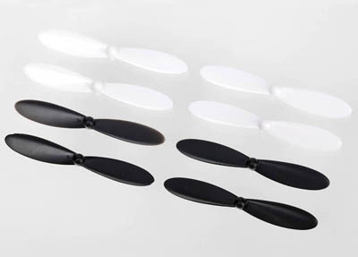 Traxxas Rotor Blades for QR-1 Helicopter, White/Black