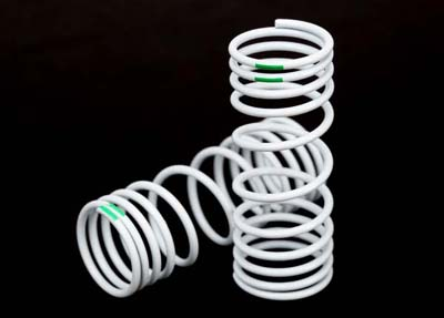 Traxxas progressive front Springs, -10% rate Green