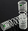 Traxxas progressive Rear Springs, -10% rate green