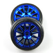Traxxas LaTrax 12 Spoke Wheels and Slick Tires, Blue