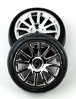 Traxxas LaTrax 12 Spoke Wheels and Slick Tires, Chrome