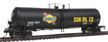 Walthers Proto HO 54' 23,000 Gallon, UTLX Funnel Flow Tank Car, Sunoco #24551